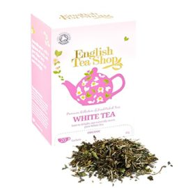 Té Blanco 40gr - English Tea Shop - Té natural blanco con un toque dulce y aromas delicados.