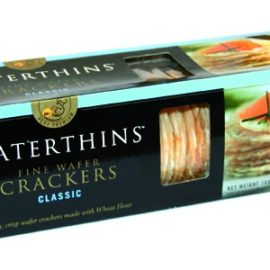 Wafer crackers clásico 100gr - Waterwheel - Crackers muy finos y crujientes para foies y canapés.